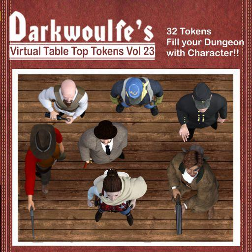 Darkwoulfe's Token Pack Vol 23: The Old West