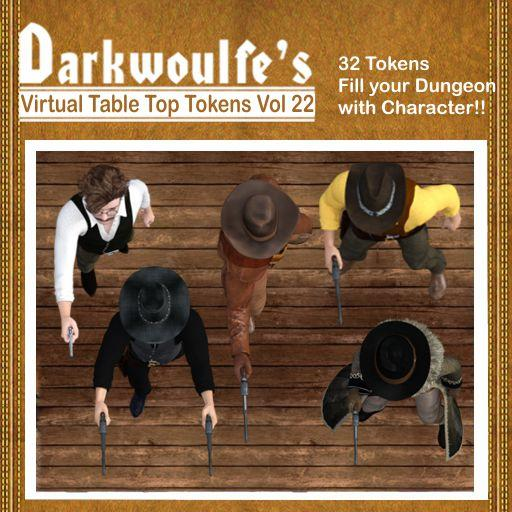 Darkwoulfe's Token Pack Vol 22: The Outlaws