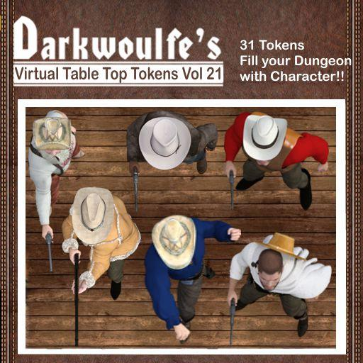 Darkwoulfe's Token Pack Vol 21: The Cowboys