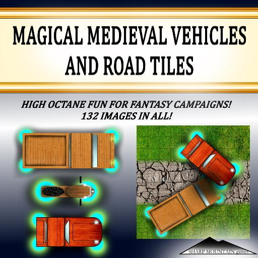 MAGICAL MEDIEVAL VEHICLES AND TILES