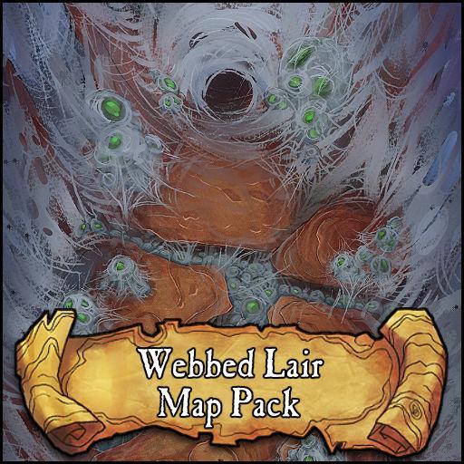 Webbed Lair Battlemap