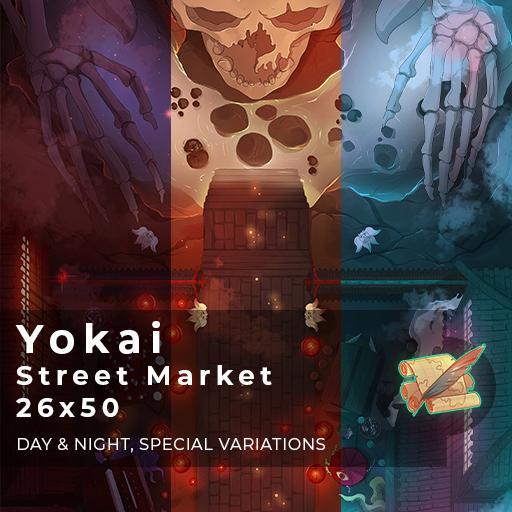 Yokai Street Market Battlemap