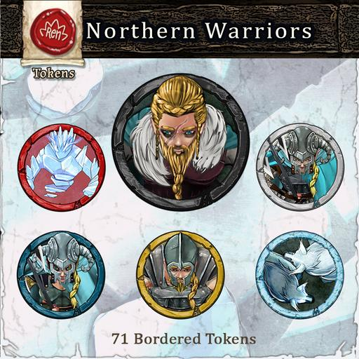 Heroes & Villains! Northern Warriors - Bordered Tokens
