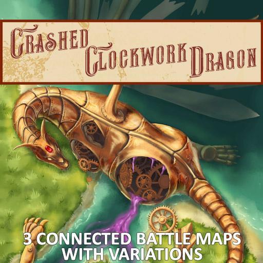 Crashed Clockwork Dragon Battle Map