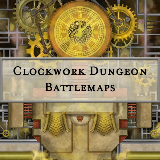 Clockwork Dungeon Battlemaps