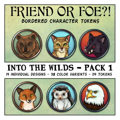 Friend or Foe Animal Tokens - Into the Wilds Pack 1