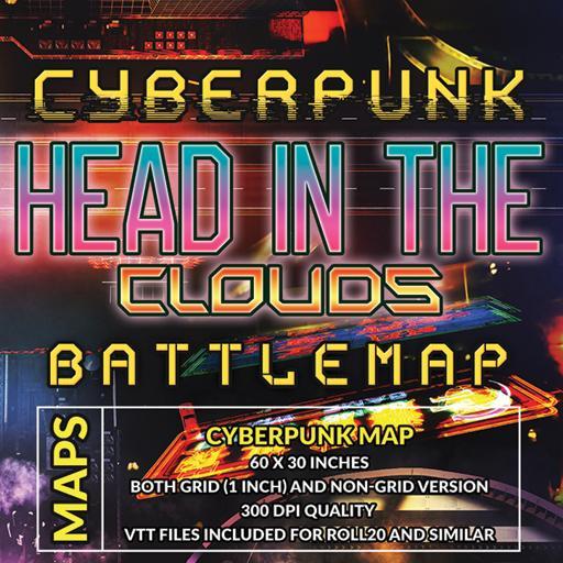 Cyberpunk Head in the Clouds