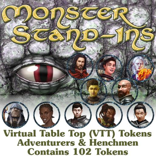 Monster Stand Ins VTT Tokens: NPC Adventurers & Henchmen