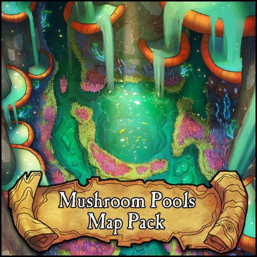 Mushroom Pools Battlemap