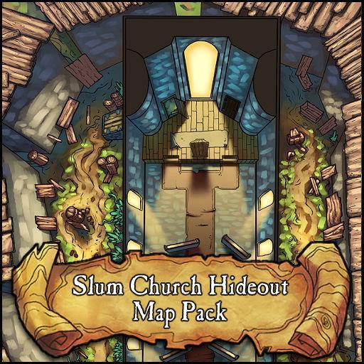 Slum Church Hideout Battlemap