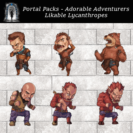 Portal Packs - Adorable Adventurers  - Likable Lycanthropes