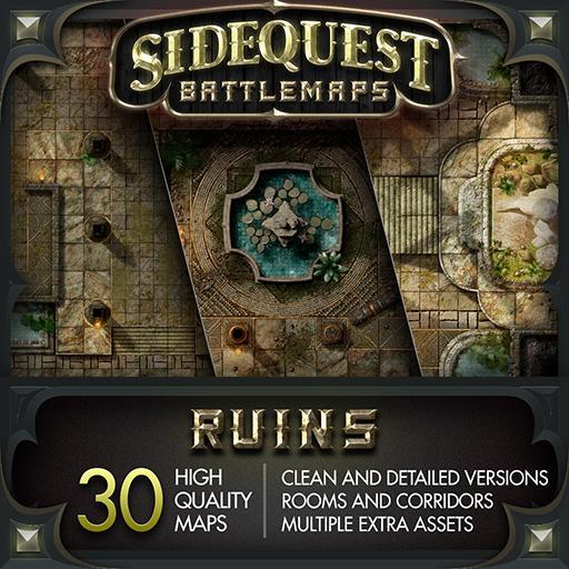Sidequest Battlemaps: Ruins