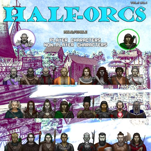 MBTB Tokens Vol.5 No.1 - Half-Orcs PC's & NPC's