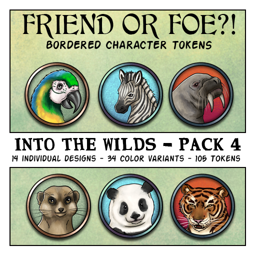 Friend or Foe Animal Tokens - Into the Wild's Pack 4