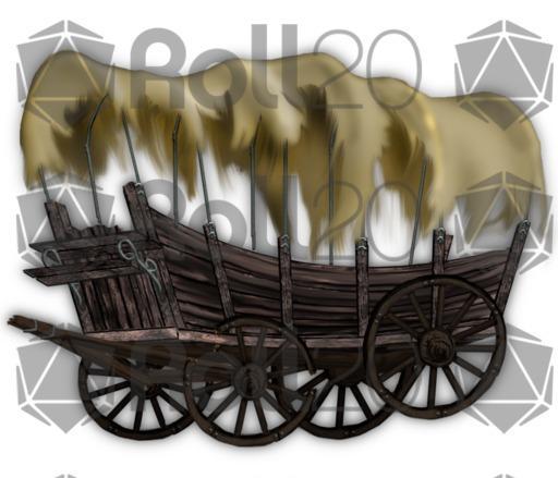 Broken Wagon Fantasy Art