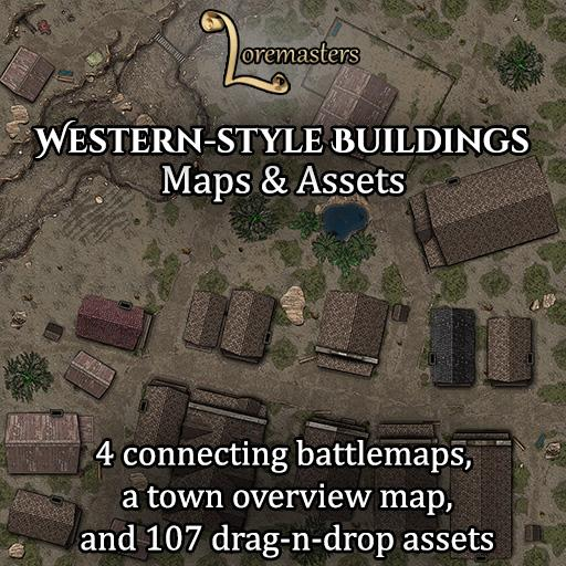 Western-style Buildings: Maps and Assets