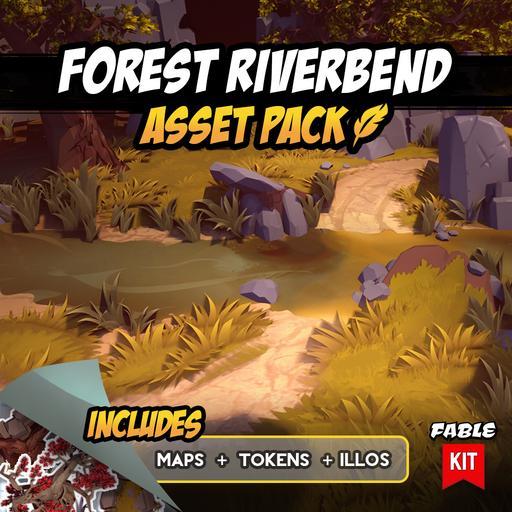 Forest Riverbend - Asset Pack