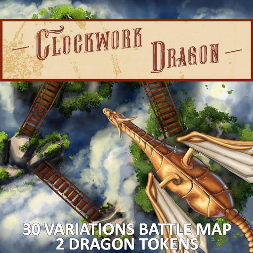 Clockwork Dragon Battle Map