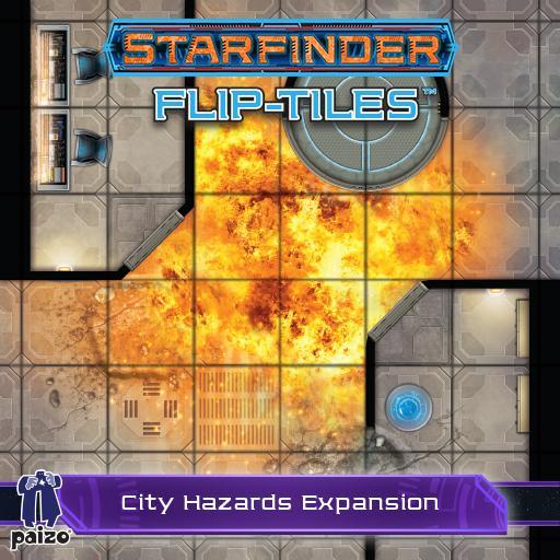 Starfinder Flip-Tiles: City Hazards Expansion Set