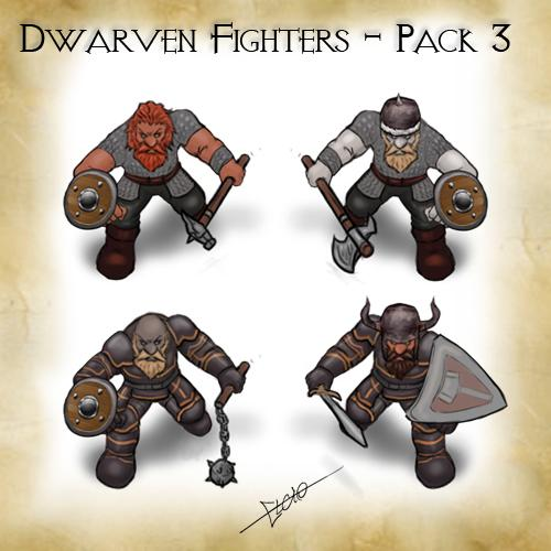 Dwarven Fighters - Pack 3
