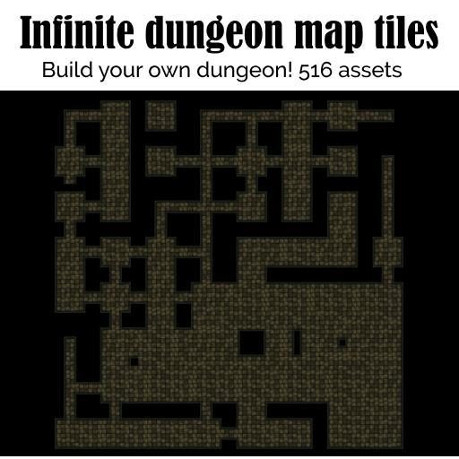 Infinite dungeon map tiles