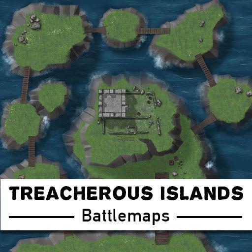 Treacherous Islands Battlemaps