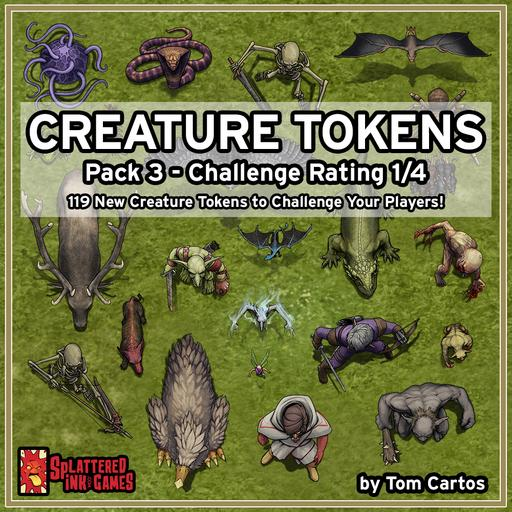 Creature Tokens Pack 3 - CR 1/4