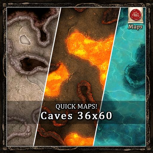 Quick Maps! - Caves! 36x60
