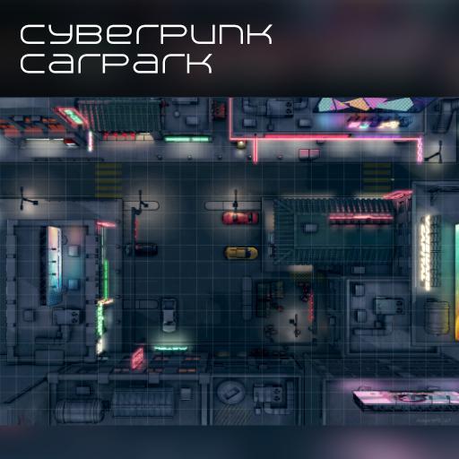 Cyberpunk Carpark