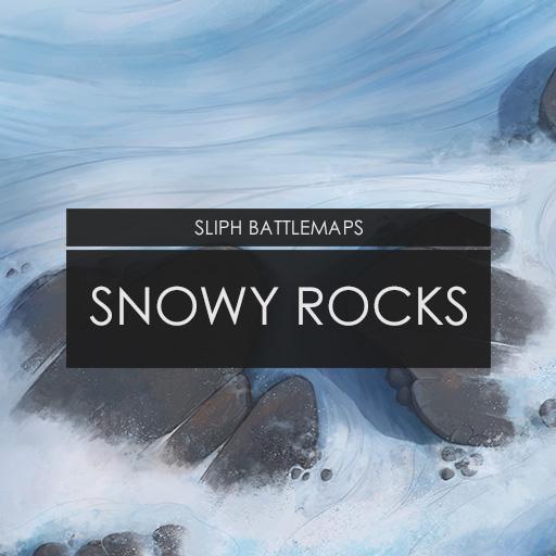 Snowy Rocks   Battlemap