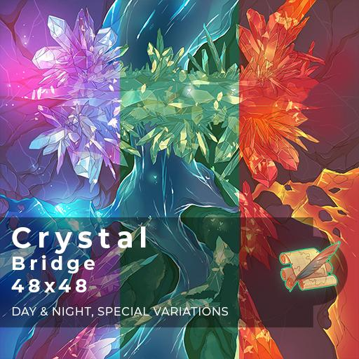Crystal Bridge Battlemap