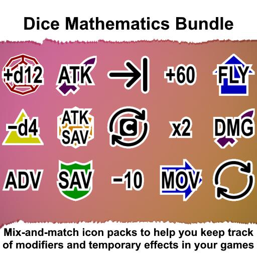 Dice Mathematics Token Markers