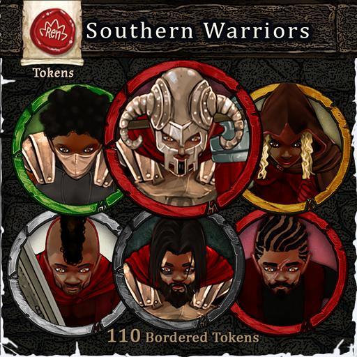 Heroes & Villains! Southern Warriors - Bordered Tokens