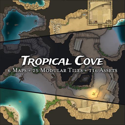 Tropical Cove - Modular Tiles & Maps