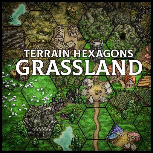 Terrain Hexagons: Grassland