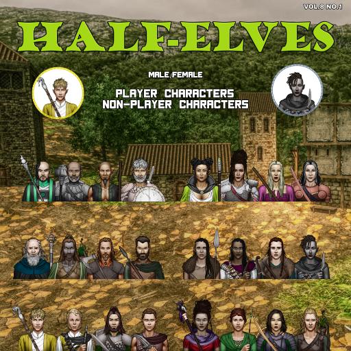 MBTB Tokens Vol.8 No.1 - Half-Elves PC's & NPC's