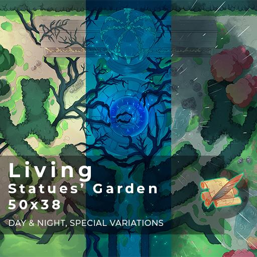 Living Statues' Garden Battlemap