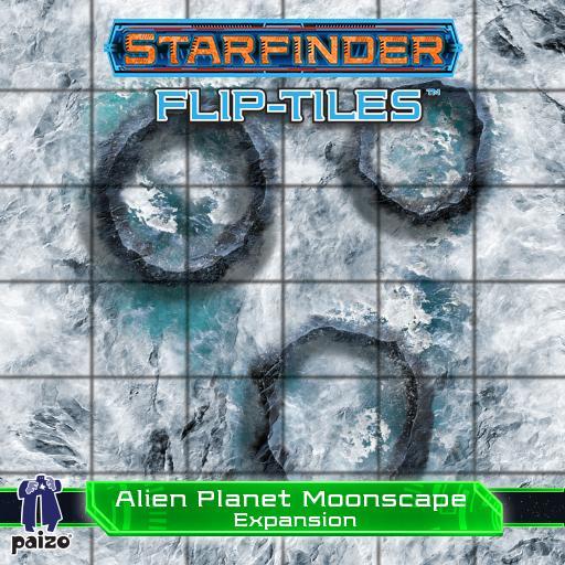 Starfinder Flip-Tiles: Alien Planet Moonscape Expansion