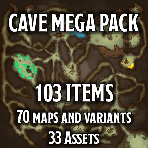 Cave MEGA Pack - Maps and Assets