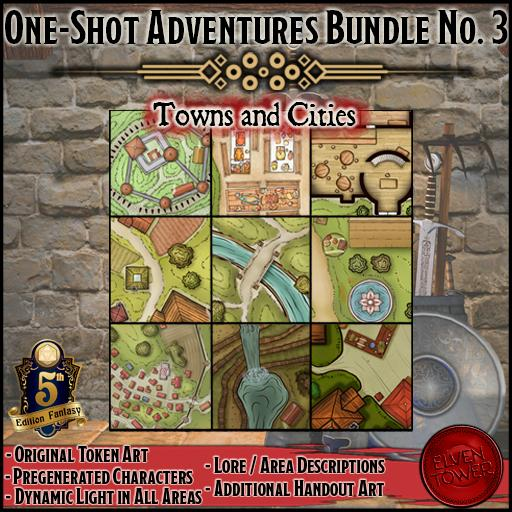 One-shot Adventures Bundle No. 3 - Towns and Cities