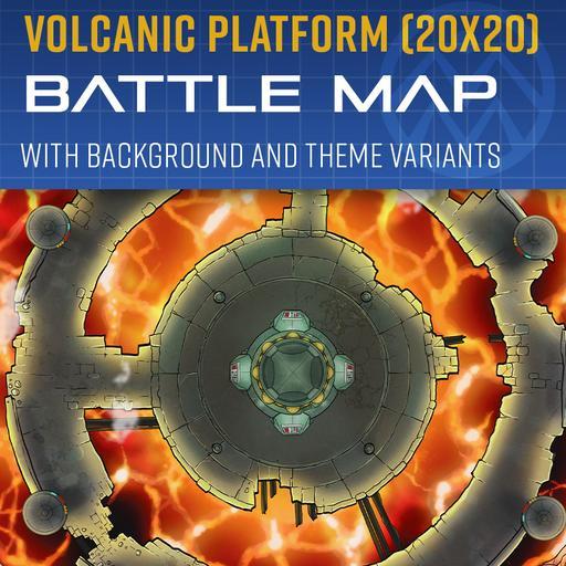 Volcanic Platform - Battle Map