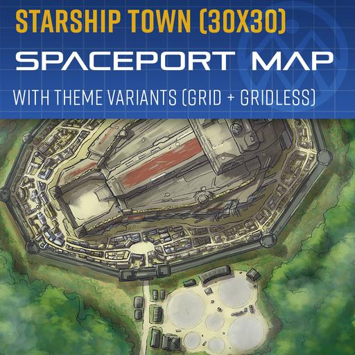 Starship Town - Spaceport Map