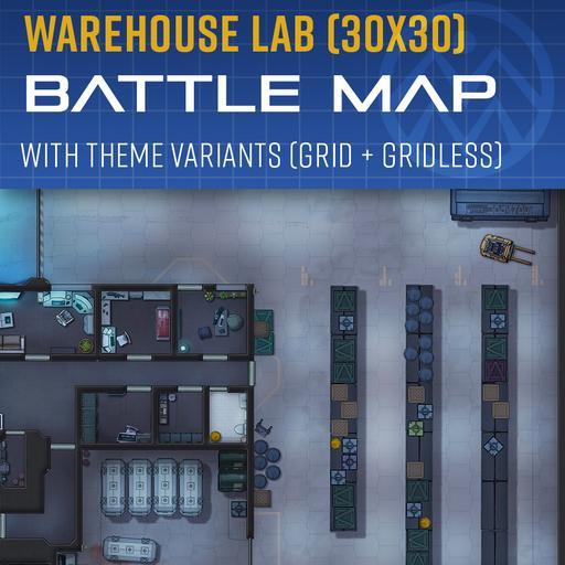 Warehouse Lab - Battle Map