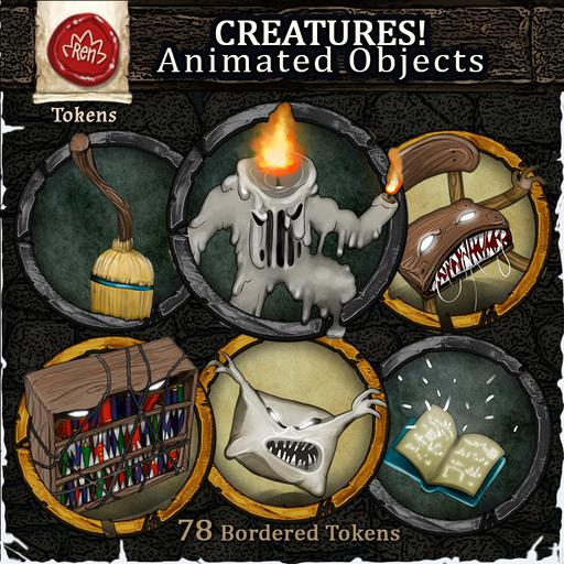 Creatures! Animated Objects (Cursed Manor) - Bordered Tokens