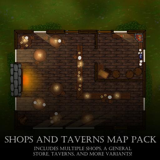 Shops and Taverns Map Pack