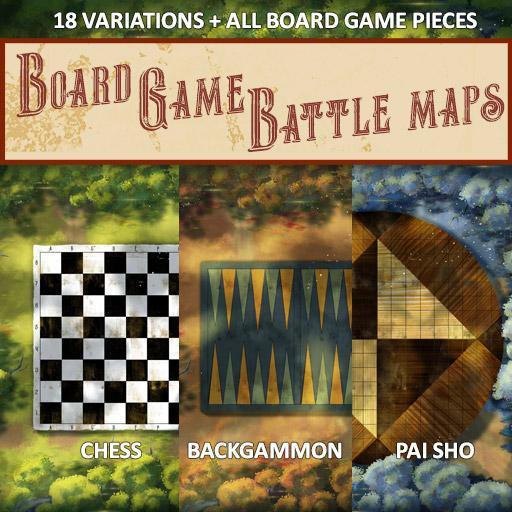Board Games Battle Maps (Pai Sho, Chess / Checkers, Backgammon)