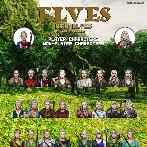 MBTB Tokens Vol.3 No.3 - Elves High PC's & NPC's