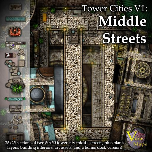 Tower Cities V1: Middle Streets I