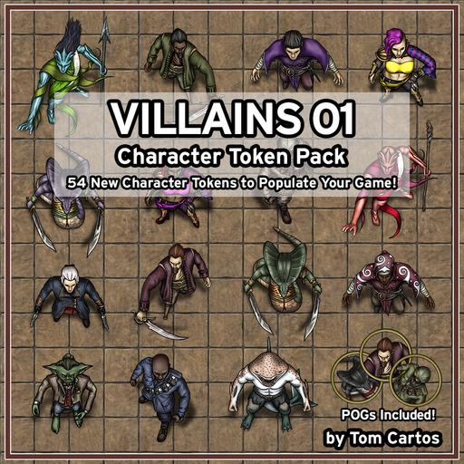 Villains 01 Character Tokens
