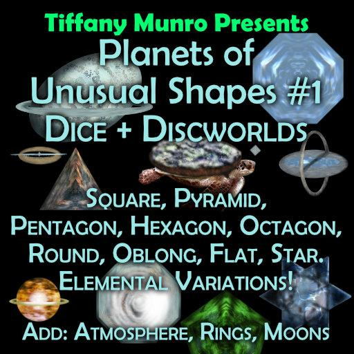 Planets of Unusual Shapes #1: Dice and Discworlds